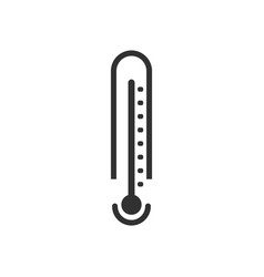 Black icon on white background weather thermometer vector