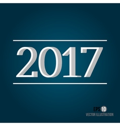 2017 New Year vector image vector image