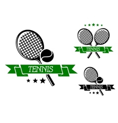 Big tennis sporting emblem vector
