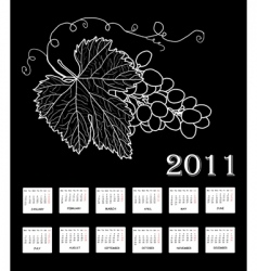 annual calendar for 2011 vector image