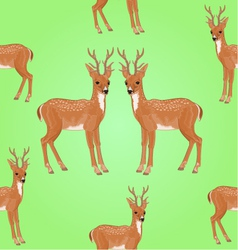 Seamless texture young deer wild animal vector