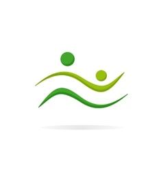 Happy family logo vector image