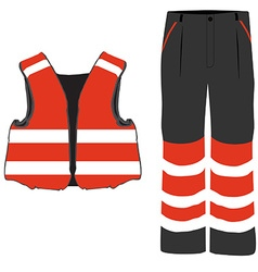 Safety clothing vector