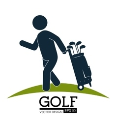Sport golf club vector