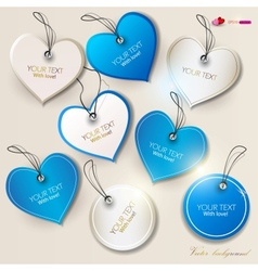 Heart labels set vector image