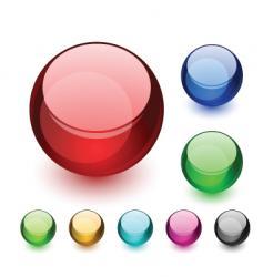 aqua balls vector image vector image