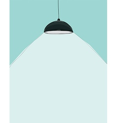 Black ceiling lamp cartoon drawing by hand vector
