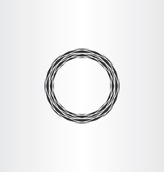 Black circle ring abstract background vector