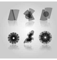 Black symbols vector