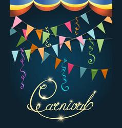 Carnival Poster Festive Design vector image vector image