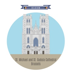 Cathedral brussels vector