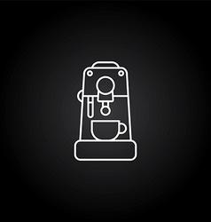 Coffee machine icon vector