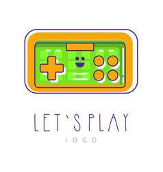 Colorful icon of joysticks for video games retro vector