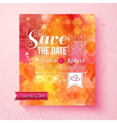 Colorful vibrant save the date wedding invitation vector