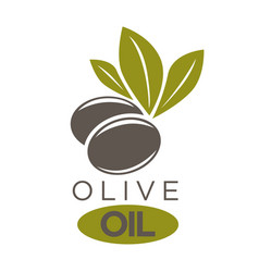 Company label black olivic vector