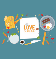 Cooking poster design vector