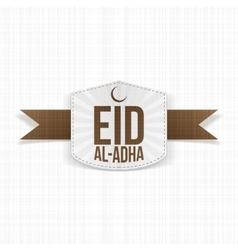 Eid al-adha realistic white label vector