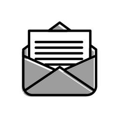 email message letter social media symbol vector image