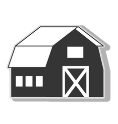 Farm barn house icon icon vector