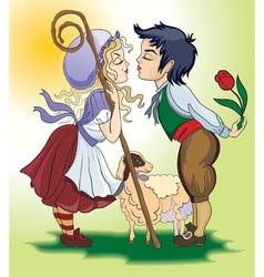 Farm romance vector