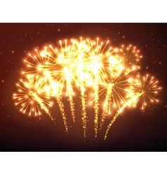 Festive gold firework background vector image