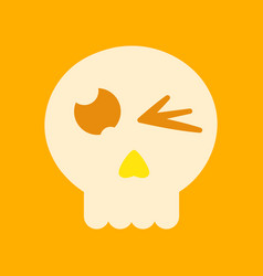 Flat icon on background halloween emotion skull vector