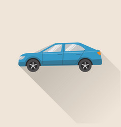 Flat style car icon vector