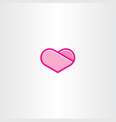 heart clipart sign vector image vector image