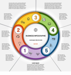Infographic for success business project 5 vector image