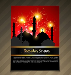Islamic festival celebration vector