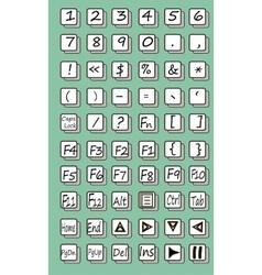 Keyboard symbol vector