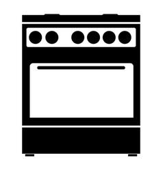 Kitchen stove the black color icon vector