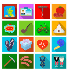 Medicine restaurant travel and other web icon in vector