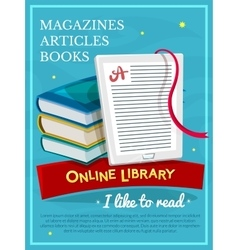 Online library design vector image