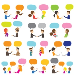 People conversation vector