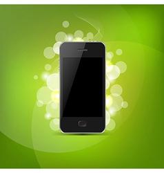 Phone And Green Bokeh vector image vector image