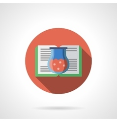 Potions book round flat color icon vector