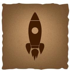 Rocket sign vintage effect vector
