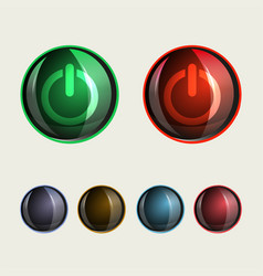 Round buttons glass set vector