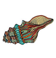 Sea shell icon vector