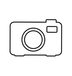 silhouette camera photo icon vector image