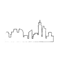 Silhouette of urban city vector