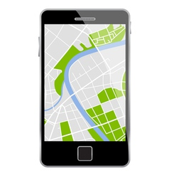 smartphone map vector image