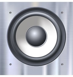 Sound speakers dynamics vector image vector image