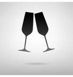 Sparkling champane black icon vector image vector image