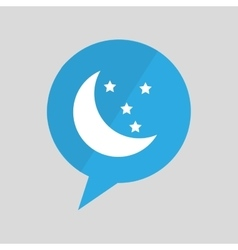 symbol moon and star sleeps dreams design vector image