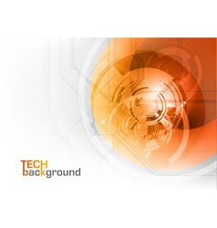 tech background orange corner round vector image vector image