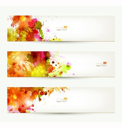 Three headers vector image