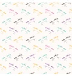 Unicorns seamless vector