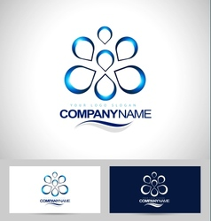 Water logo design creative vector